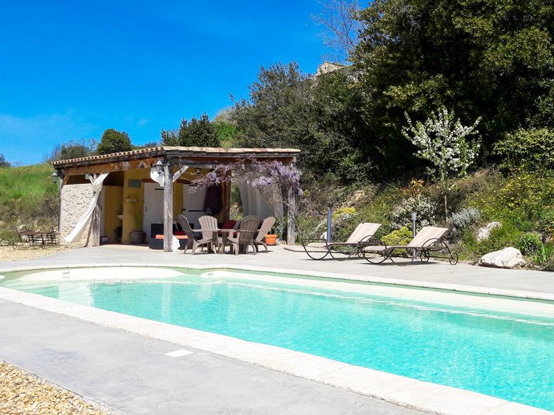 Pool and cabana