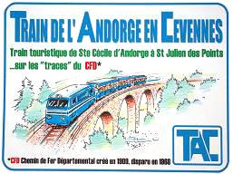 Le train d'Andorge en Cévennes